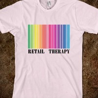 Retail Therapy Rainbow Barcode - Light T Shirt