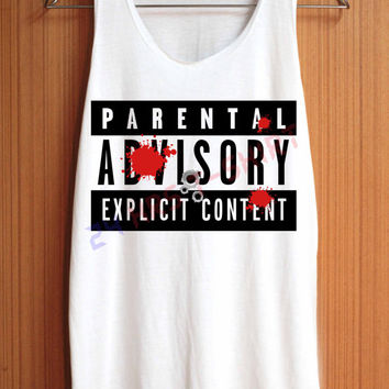 Parental Advisory Shirt Explicit Content Shirts Top by 24hrsTShirt