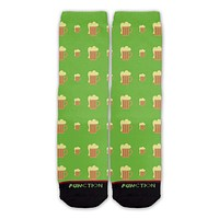 Function - St. Patrick's Day Beer Mug Pattern Fashion Socks