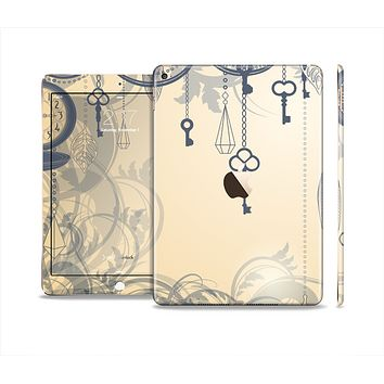 The Vintage Hanging Clocks and Keys Skin Set for the Apple iPad Air 2