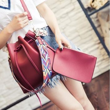 Bucket Bags for Girls Tassels High Quality Leather Shoulder Crossbody Bag Bolsa Feminina Handbag