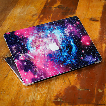 Pink Nebula Apple MacBook Top Front Lid Cover Decal Skin Sticker Protector Air Pro Retina Touch Bar | 3M | 11 12 13 15 17 inch