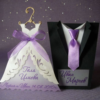 Bridal Wedding Table Cards, Wedding Gown Table Card, Bridal Gown Table Card, Tuxedo Table Card, Groom Suit Table Cards, Handmade Table Cards