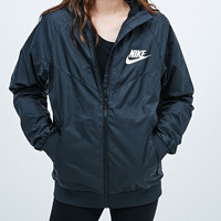 """NIKE"" Trending Black Hooded Zipper Cardigan Sweatshirt Jacket Coat Windbreaker Sportswear"