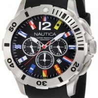 Nautica Men's N18636G Bfd 101 Dive Style Chrono Flag Watch