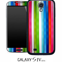 Vertical Neon Bars Skin for the Samsung Galaxy S4, S3, S2, Galaxy Note 1 or 2