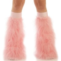 Baby Pink Fluffies : Solid Color Fluffy Legwarmers from Indyglo