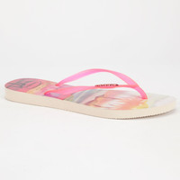 Havaianas Slim Paisage Womens Sandals Pink  In Sizes