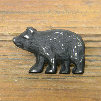 Dresser Knob, Drawer Knob, Cabinet Knob, Dresser Hardware, Decorative Knobs, Cast Iron Knobs, Bear Knob, Bear Drawer Pull, Bear Dresser Pull