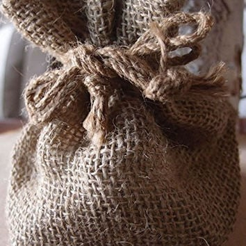 Burlap Party Favor Drawstring Bags