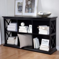 The Hampton Console Table Stackable Bookcase - Black | www.hayneedle.com