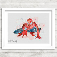 Spiderman Watercolor Art Poster Print, Marvel SuperHero, Wall Art, Home Decor, Boy's Gift, Not Framed, Buy 2 Get 1 Free! [No. 60]