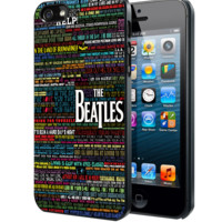 the beatles typography song lyric C Samsung Galaxy S3 S4 S5 S6 S6 Edge (Mini) Note 2 4 , LG G2 G3, HTC One X S M7 M8 M9 ,Sony Experia Z1 Z2 Case