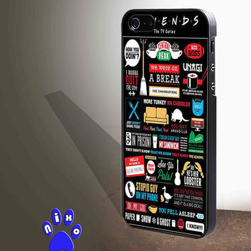 Friends TV Show Collage art  for iphone 4/4s/5/5s/5c/6/6+, Samsung S3/S4/S5/S6, iPad 2/3/4/Air/Mini, iPod 4/5, Samsung Note 3/4 Case *NP*