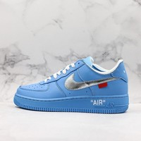 "OFF-White x Nike Air Force 1 Low ""MCA Chicago"" University Blue - Best Deal Online"