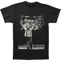 Megadeth Men's  Yamaha Drums Photo Mens Reg T T-shirt Black