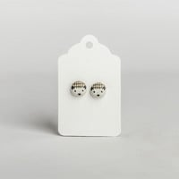 Hedgehog Button Earrings