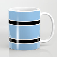 Abstraction from the flag of bostwana-kalahari,gaborone,batswana,motswana,tswana,kalanga Coffee Mug by oldking