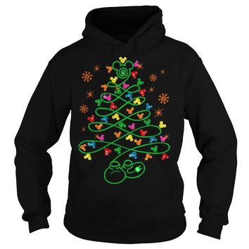 Pine trees Mickey mouse sweater Hoodie