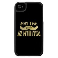 Funny Black Mustache - May the Stache be with you iPhone 4 Cases from Zazzle.com