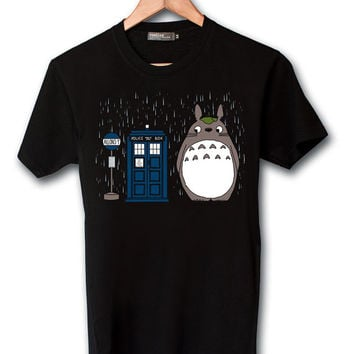 Popular Funny Shirt  Totoro tardis dr who Screen print T shirt by Sumitoh