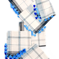 Asmaani Tassel Cocktail Napkin Set