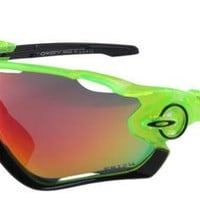 Sunglasses JAWBREAKER Polarized₁OAKLEY₁Green w/Fire IRIDIUM2018~