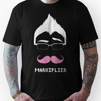 Markiplier/Warfstache (White Logo Eyebrow) Unisex T-Shirt