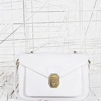Front Lock Satchel in White - Urban Outfitters