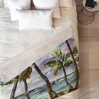 Ginette Fine Art Bahamas Breeze Fleece Throw Blanket
