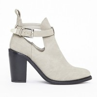 Missguided - Rose Buckle Ankle Boots Grey Nubuck