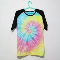 MP Mutilcolor Spiral Tie Dye Black Short Sleeve T Shirt 052835 HDP 0705 Size L