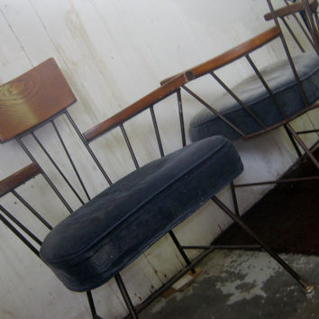 """Selrite Chairs by Richard McCarthy Circa 1950's Mid-Century """"Captain"""" Chairs"""