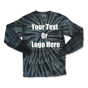 Custom Personalize Design Your Tie Dye Long Sleeve T-shirt