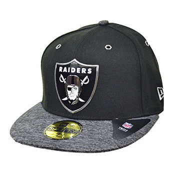 New Era NFL 59Fifty Oakland Raiders Men's Fitted Hat Black/Grey 11262157 (Size 7)