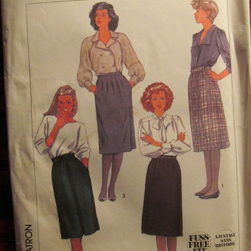 SALE Uncut 1980's Simplicity Sewing Pattern, 7679! Size 10 Small/Medium Women's/Misses, Skirts/Pleated Skirts/Knee Length/Business Casual
