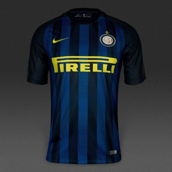 Inter Milan 2016/17 Home Men Soccer Jersey Personalized Name and Number