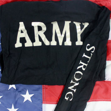 Sale! Army strong with gold lettering