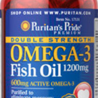 Double Strength Omega-3 Fish Oil | 1200 mg per soft gel - 90 soft gels