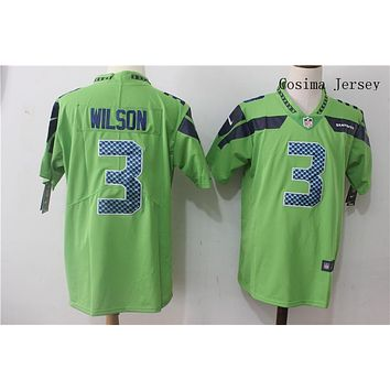 Danny Online Nike NFL Jersey Men's Vapor Untouchable Color Rush Seattle Seahawks #3 Russell Wilson Football Jersey Green