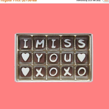 I Miss You XOXO Cubi Chocolate Letters Funny Distant Love Anniversary Gift for Boyfriend Husband Men Him BF Girlfriend Women Her Him Bf