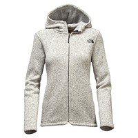 Women's Crescent Full Zip Hoodie in Heathered Ivory by The North Face - FINAL SALE