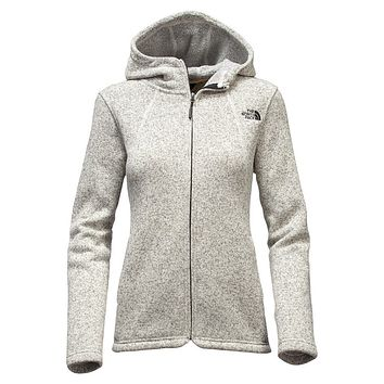 Women's Crescent Full Zip Hoodie in Heathered Ivory by The North Face