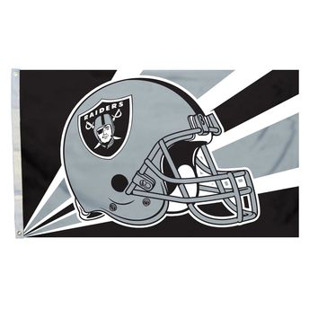 Oakland Raiders 3' x 5' Helmet Flag
