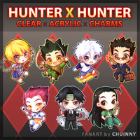 Hunter x Hunter Clear Acrylic Charms from chuinny