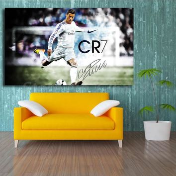 Cristiano Ronaldo Real Madrid 2014 HD Wallpaper Canvas Painting Print Living Room Home Decor Modern Wall Art Oil Painting Poster