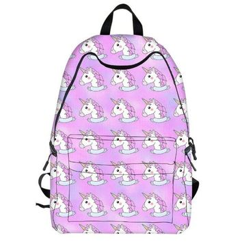 University College Backpack 17 Inch Flamingo  for Teenager Girls Laptop Mochila Feminina  Student School  Women Travel BagsAT_63_4