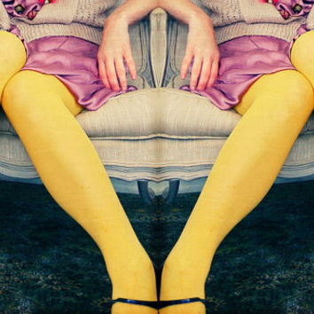 Surreal Portrait, Passengers, Fine Art Photography, Yellow Legs, As seen in Marie Claire Italia