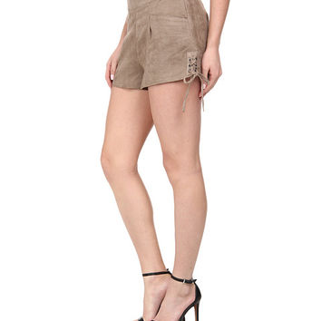 Sam Edelman Suede Lace Fly Short