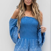 Know It's True Blue Romper